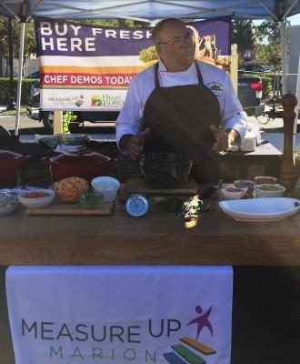 Chef Randal White at the Ocala Farmer's Market Cooking Demo